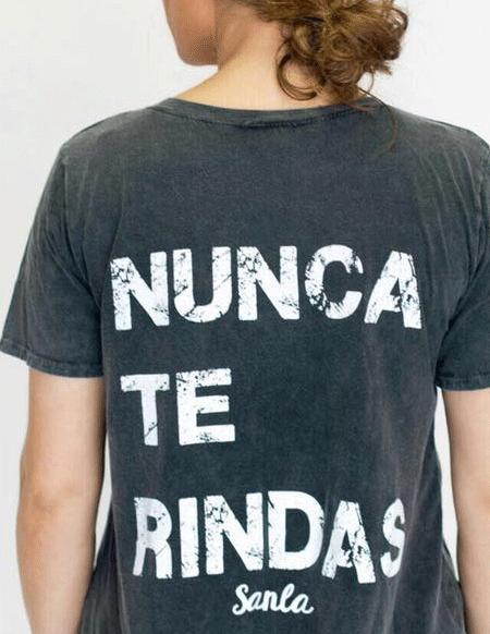 """Camiseta """"Nunca te rindas"""""""