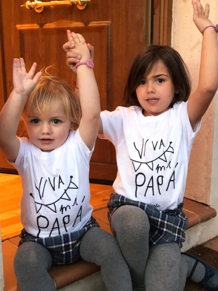 "Camiseta peque ""viva mi papá""."