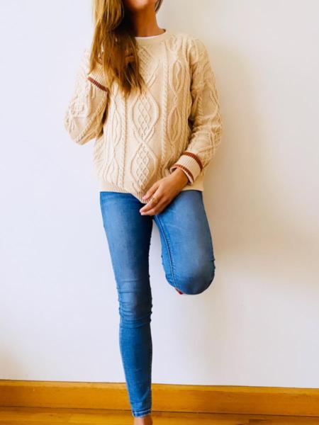 Jersey de ochos beige