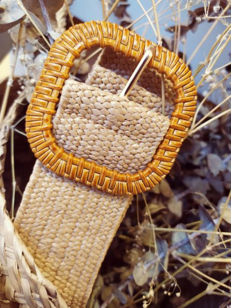 Cinturón de rafia elástico